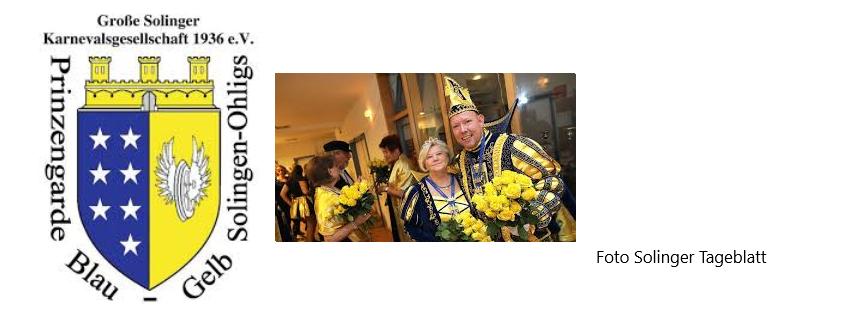 Prinzengarde Blau-Gelb Solingen- Ohligs -
