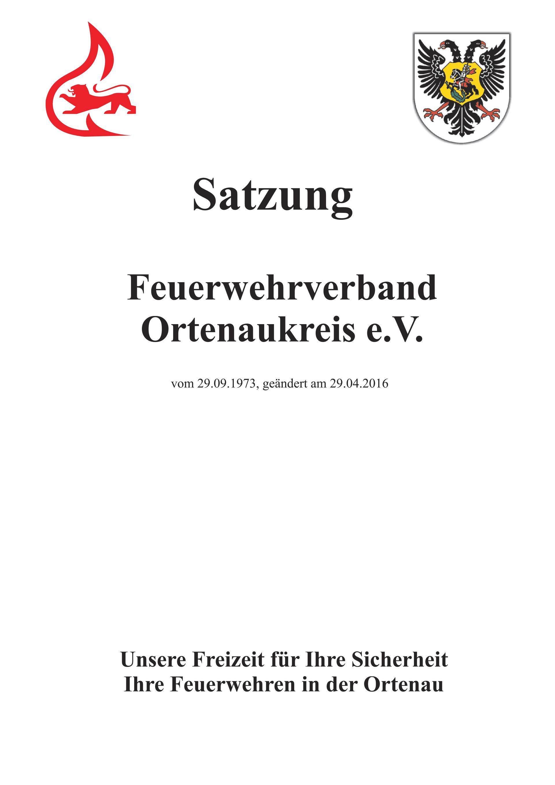 Satzung | Feuerwehrverband - Ortenaukreis