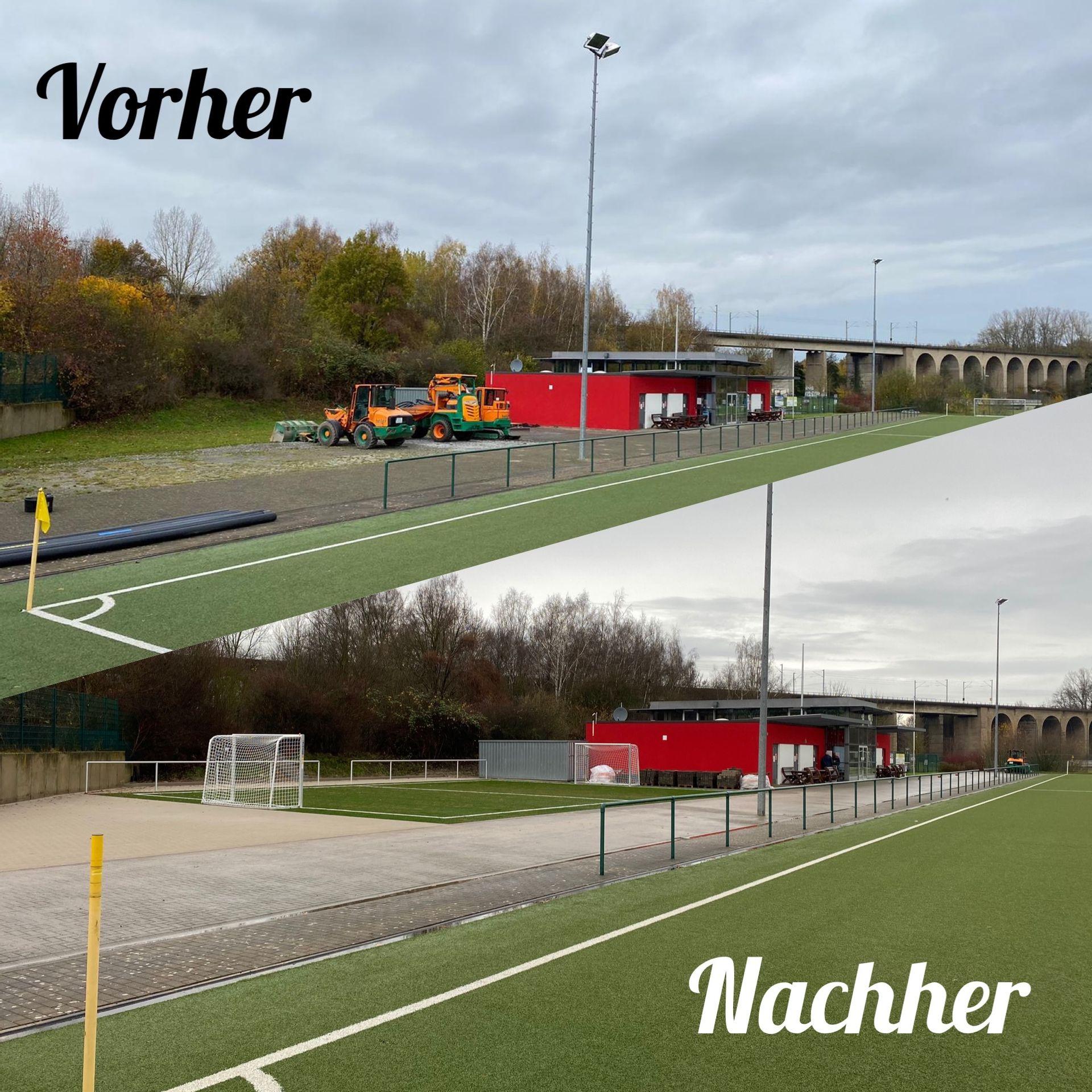 Baustellen-Tagebuch - Neubau Kleinspielfeld 2020