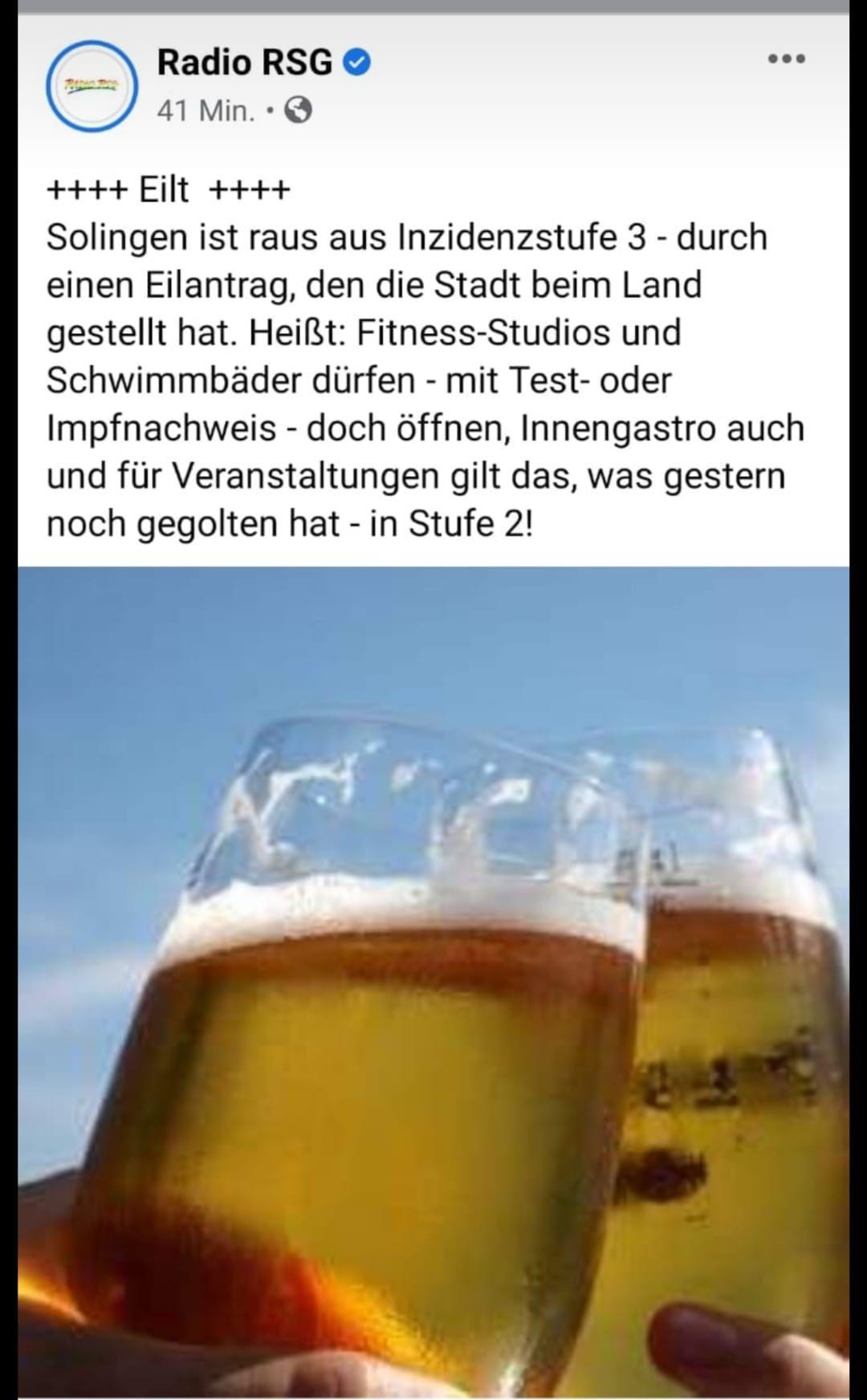 Gastro News | ISG Solingen-Ohligs e.V.