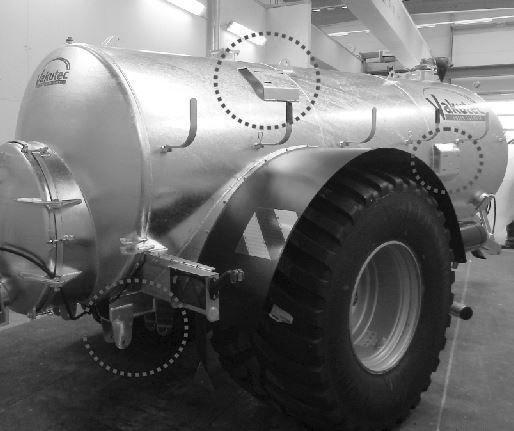 Ausrüstungsoptionen für Güllefässer - Ausrüstung