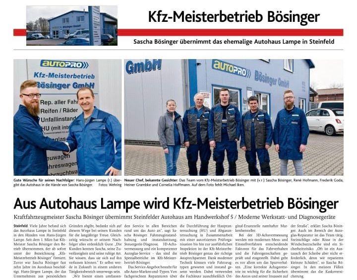 Auszug Oldenburgische Volkszeitung -
