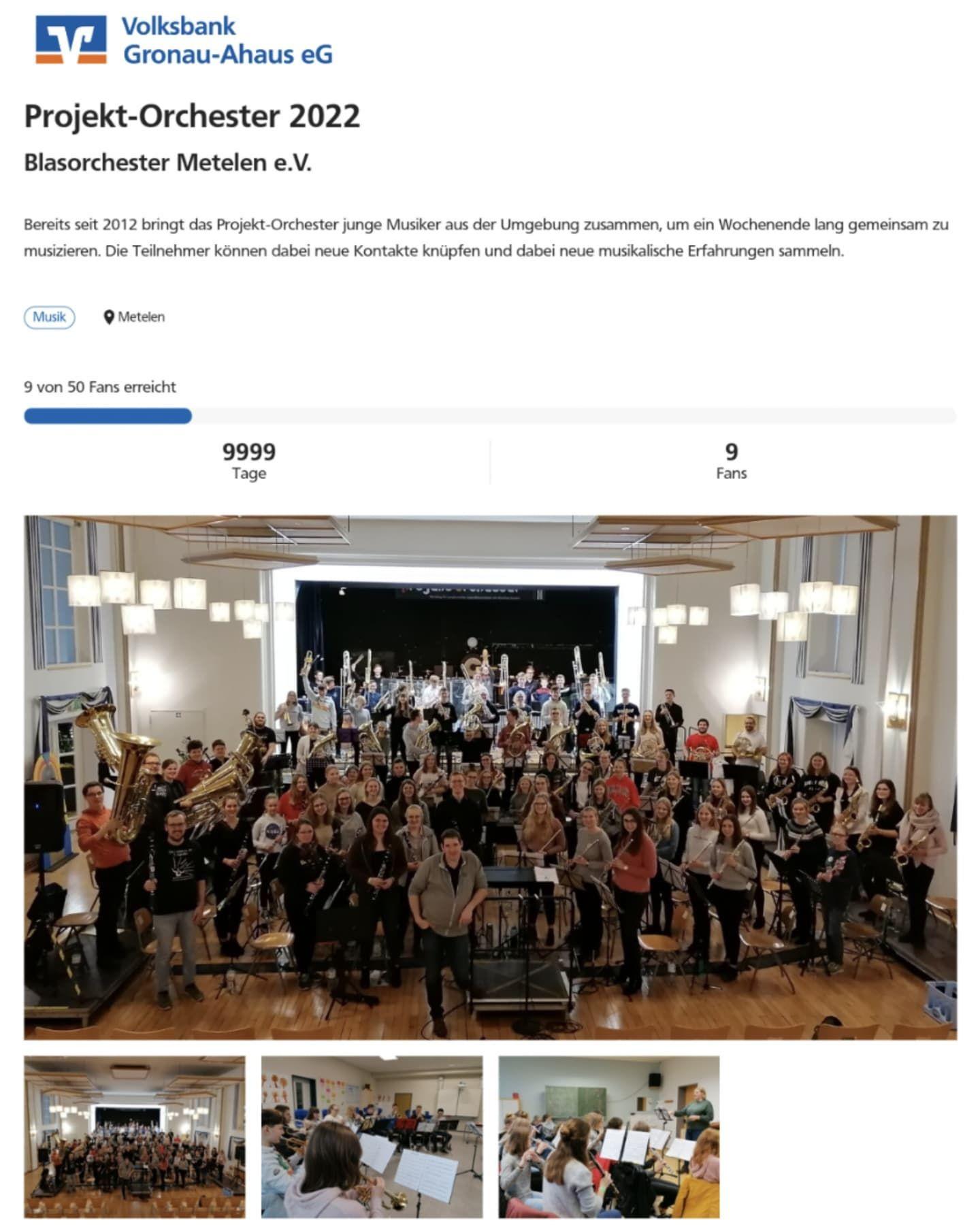 Neues vom BOM - Aktuell | Blasorchester Metelen e