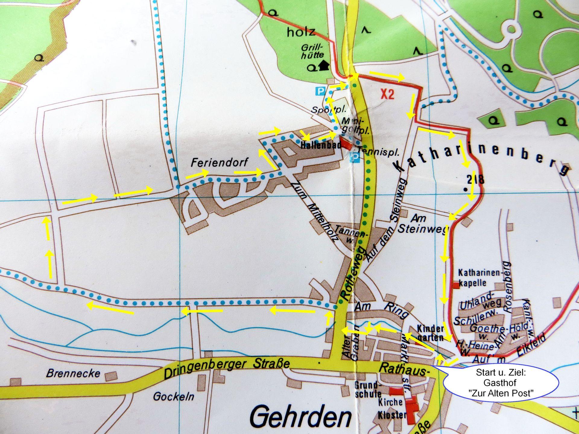 Wanderungen   rund um Gehrden |