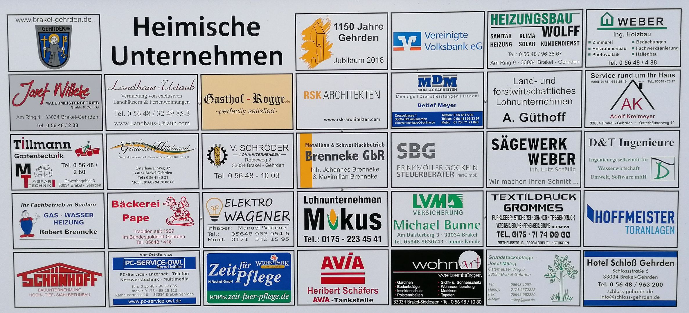 Heimische Unternehmen   Brakel-Gehrden