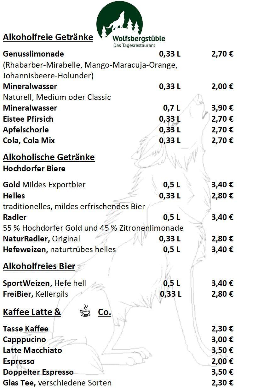 Getränke | Wolfsbergstüble