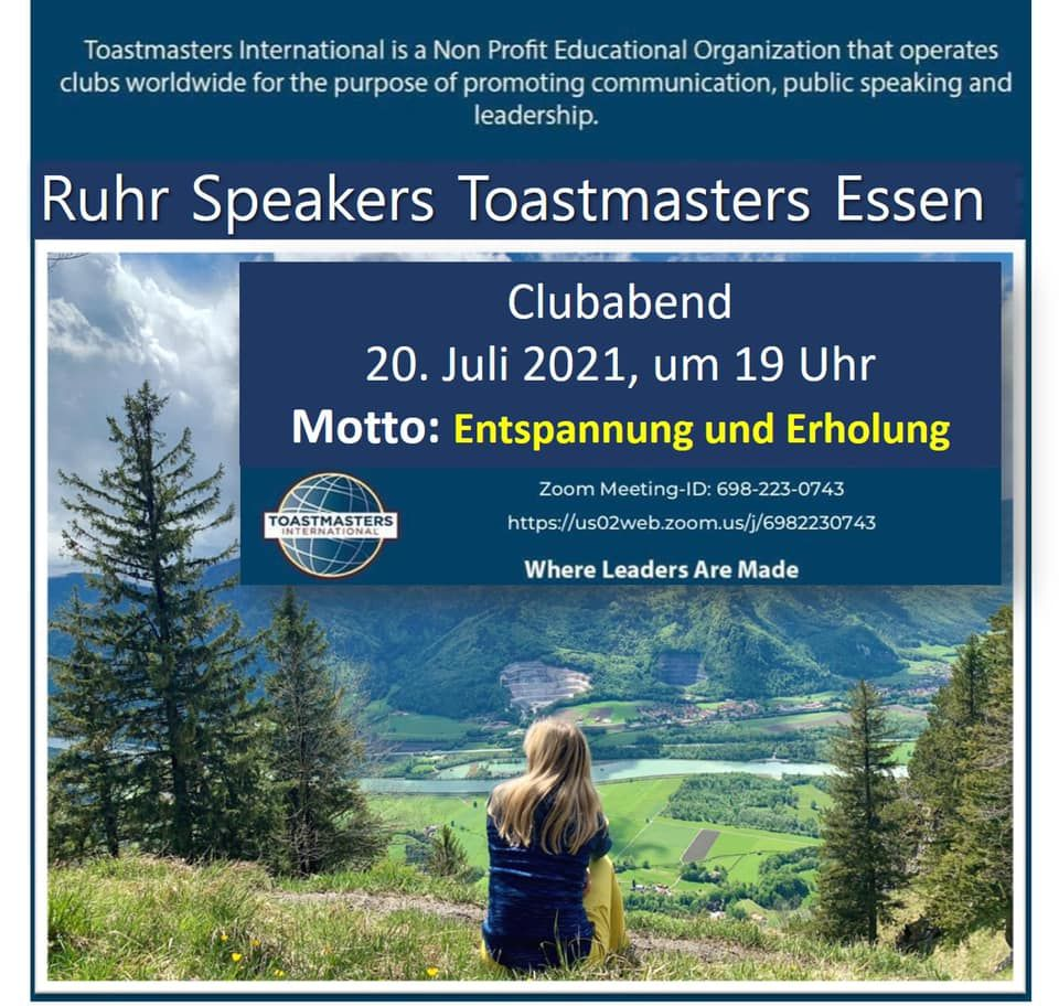 Neuigkeiten   Ruhr Speakers Toastmasters Essen e