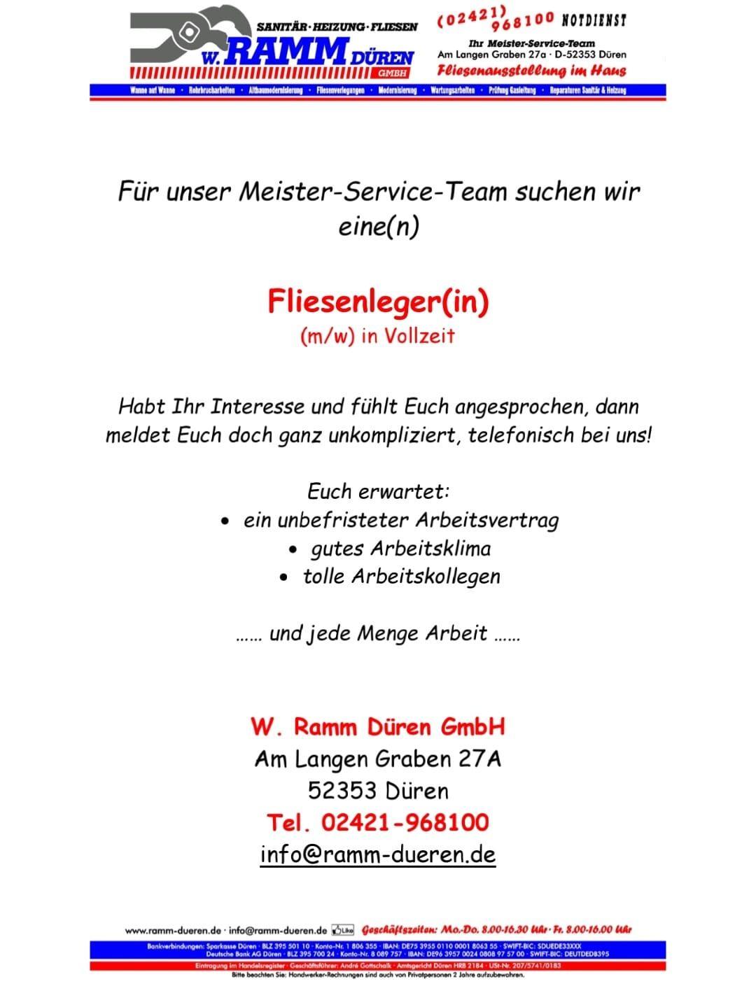 Aktuelles   W. Ramm Düren GmbH