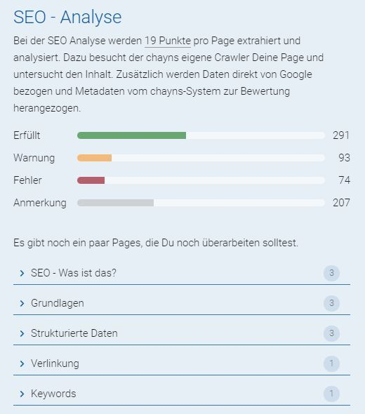 Getting Started | SEO für chayns