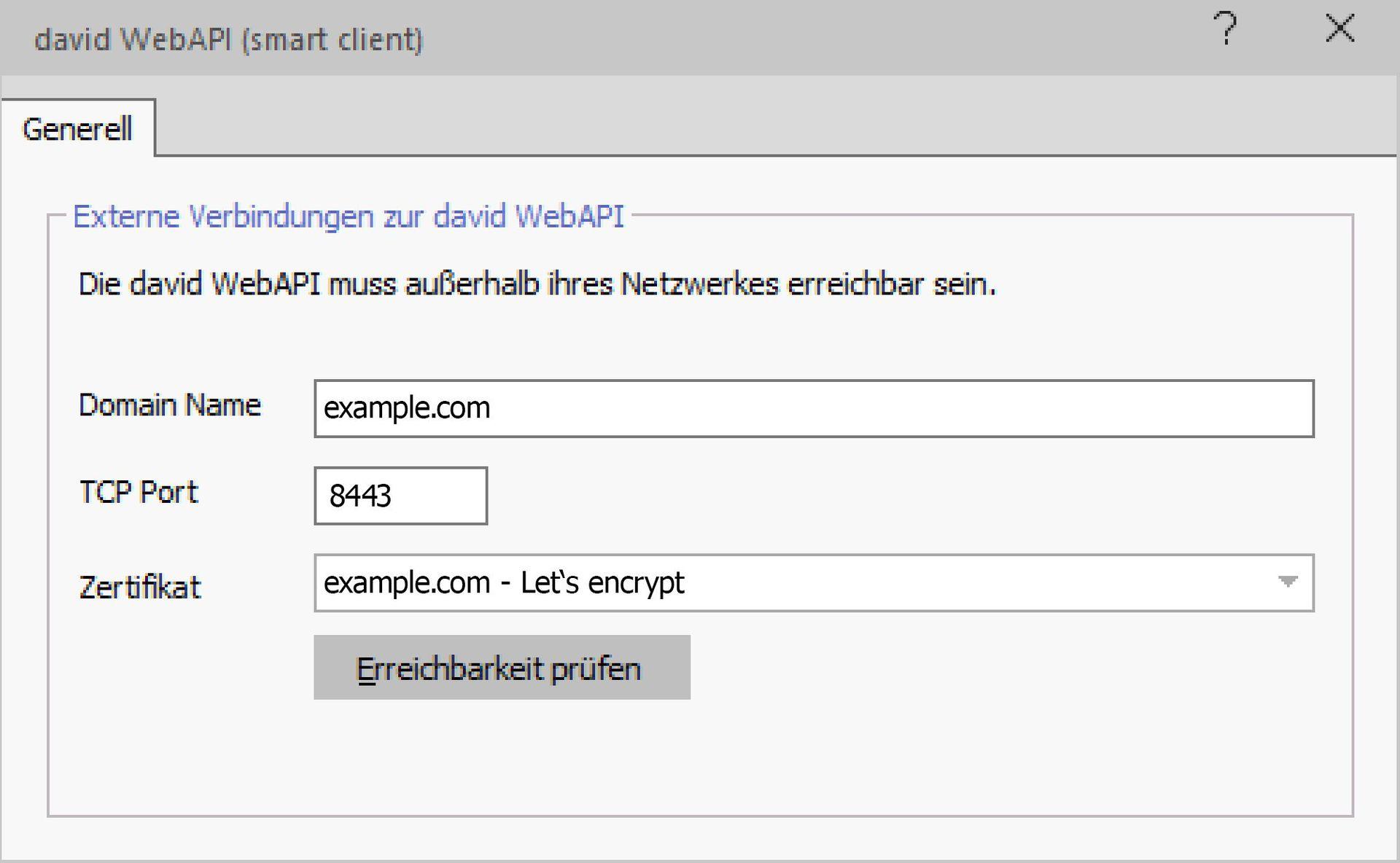 Der david3 smart client - smart client Details
