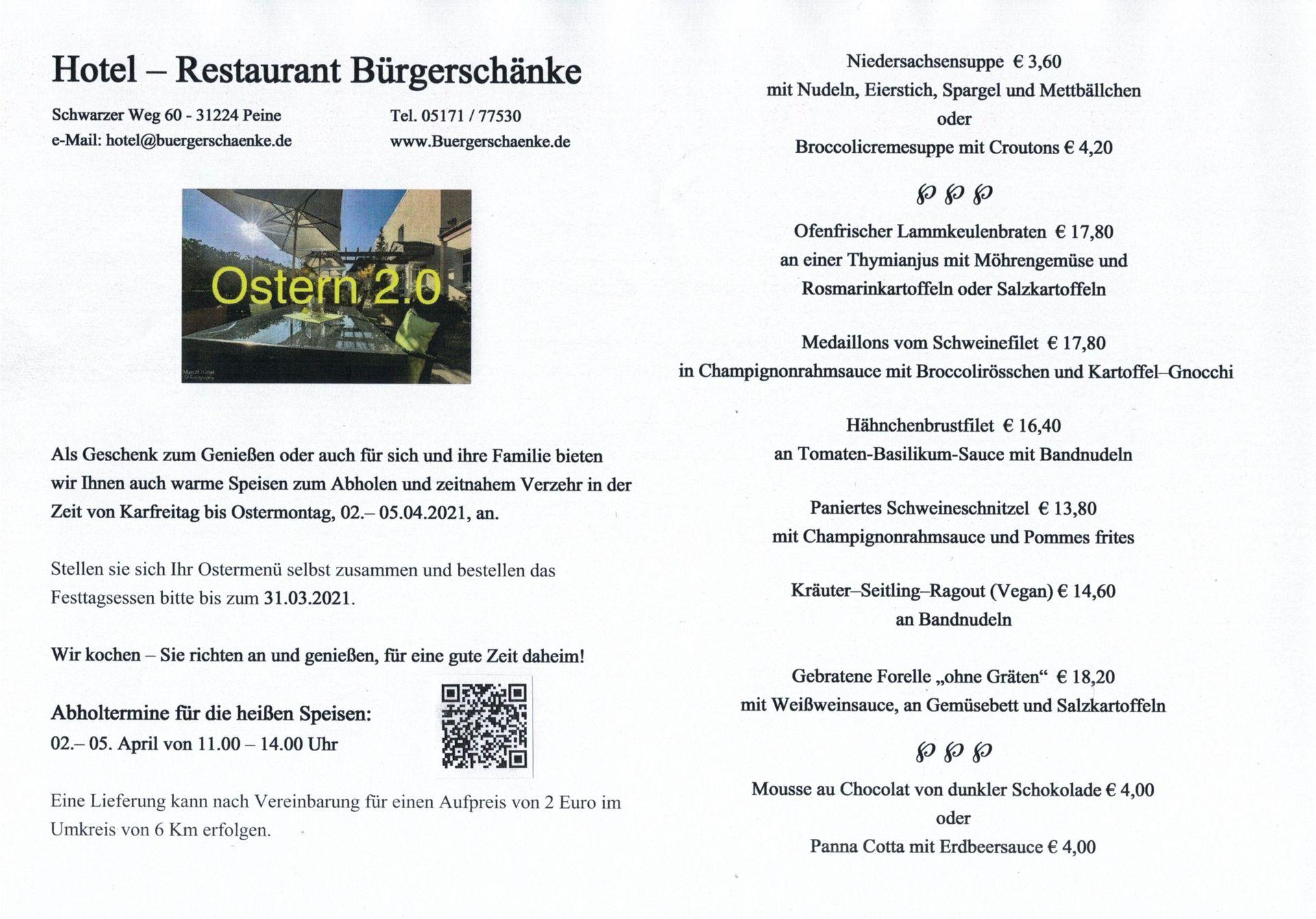 Aktuell | Hotel Bürgerschänke Peine