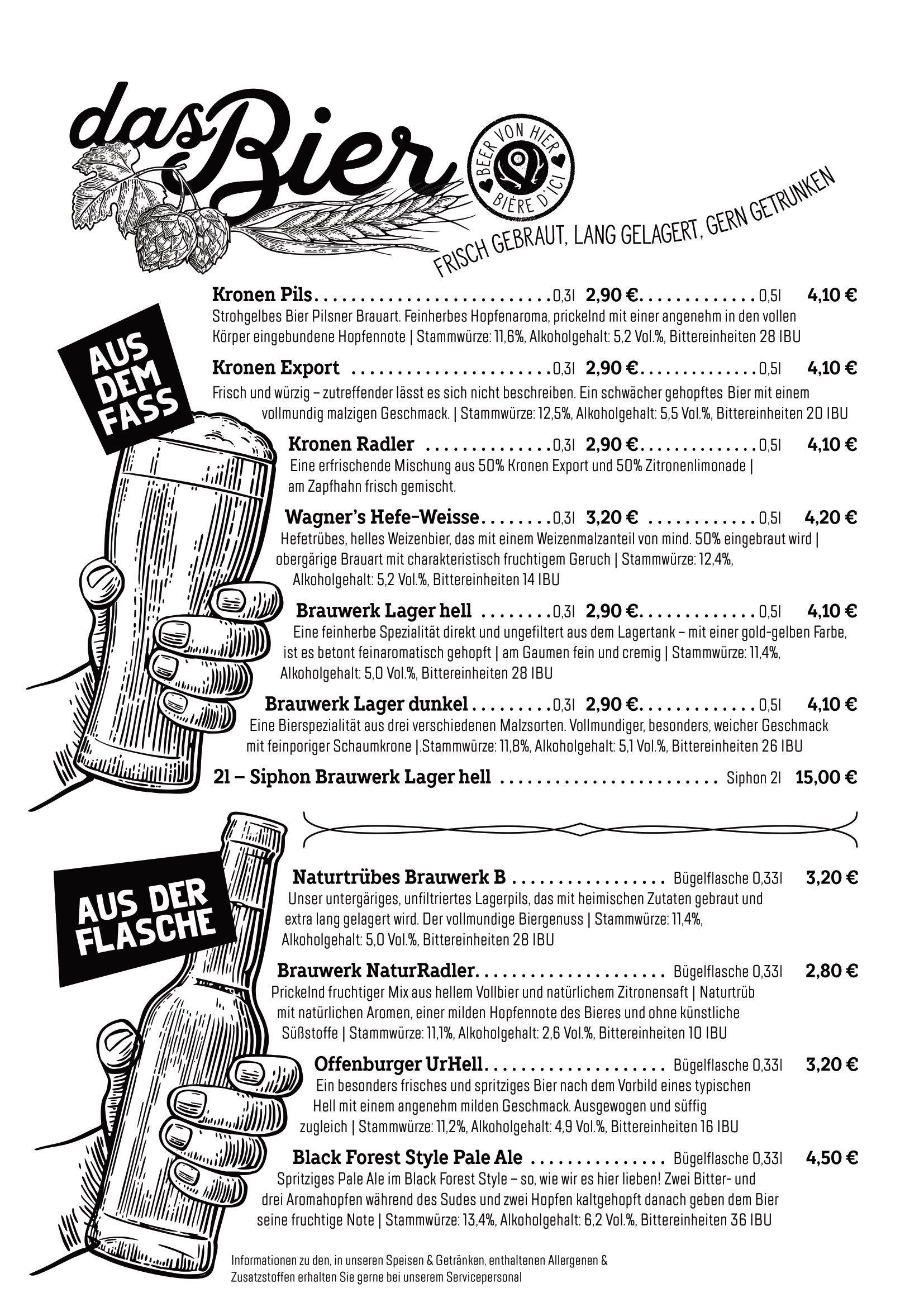 Genussfluss - Getränkekarte | Brauwerk Beer &