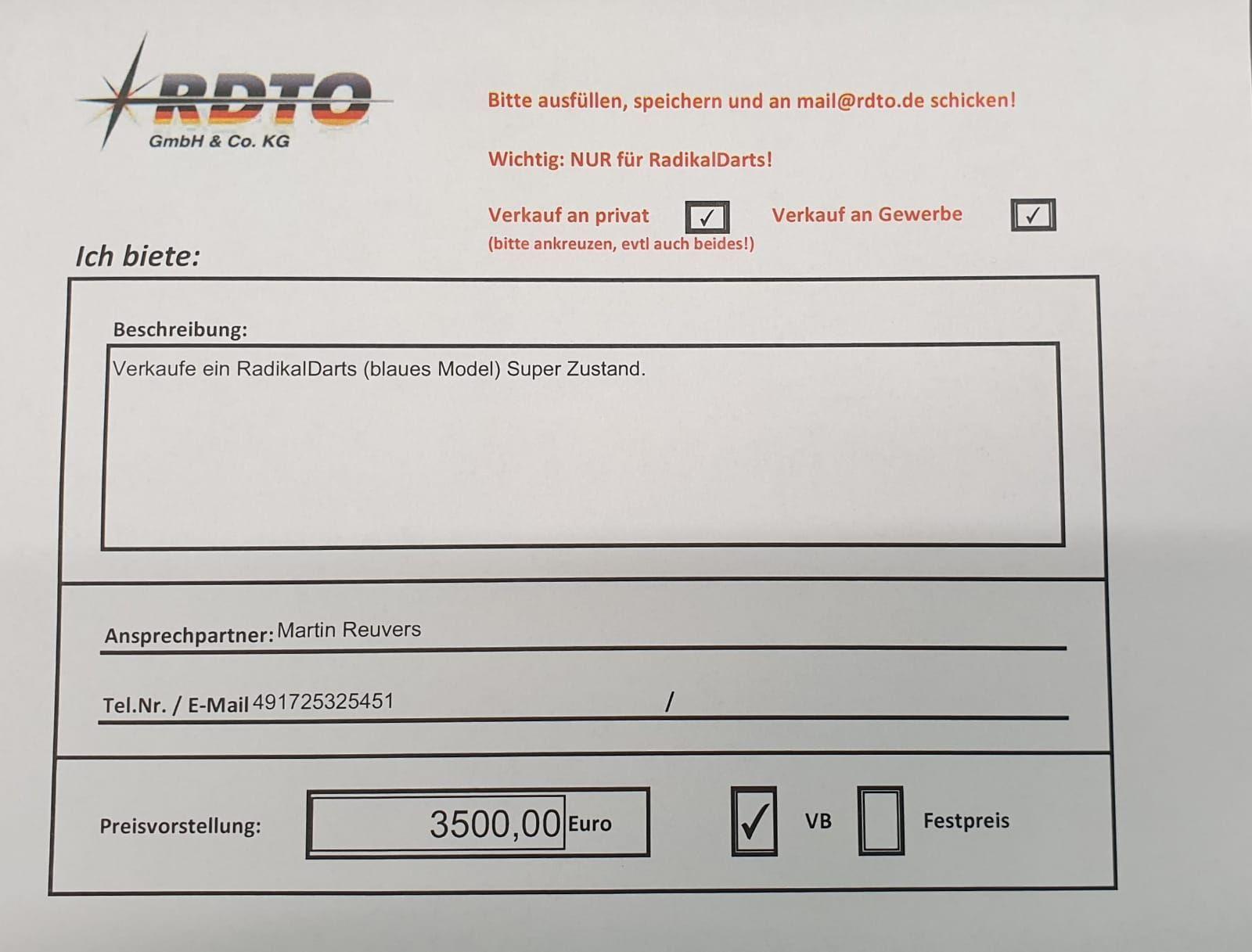 Ich biete: | RDTO GmbH & Co. KG