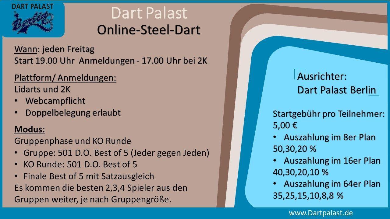 Dart Palast Online -Steel/EDarts-Dartturniere
