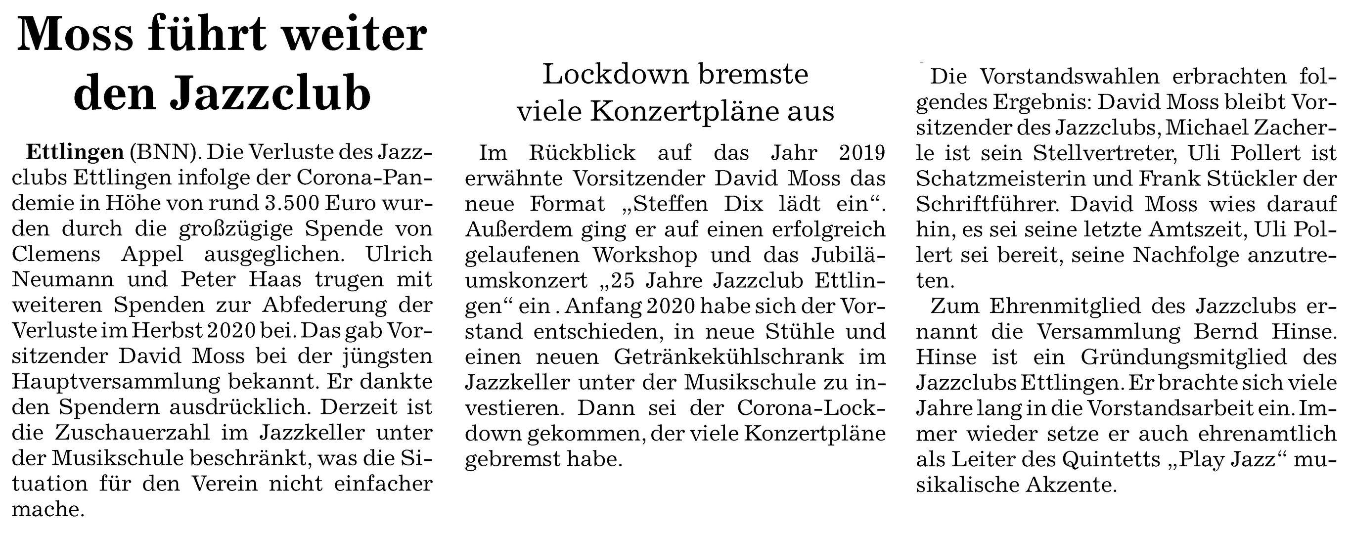 Presse | Jazz-Club Ettlingen