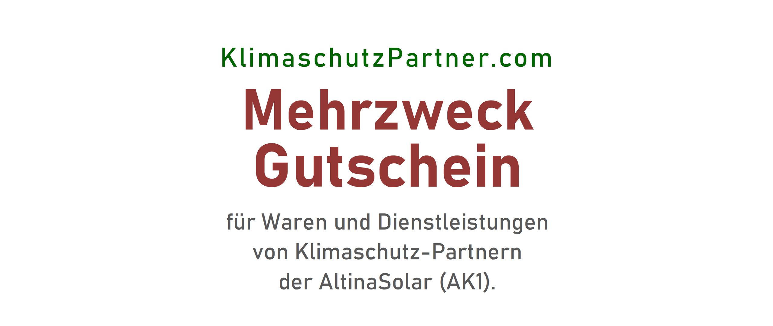 Mehrzweck-Gutschein | KlimaschutzPartner.com