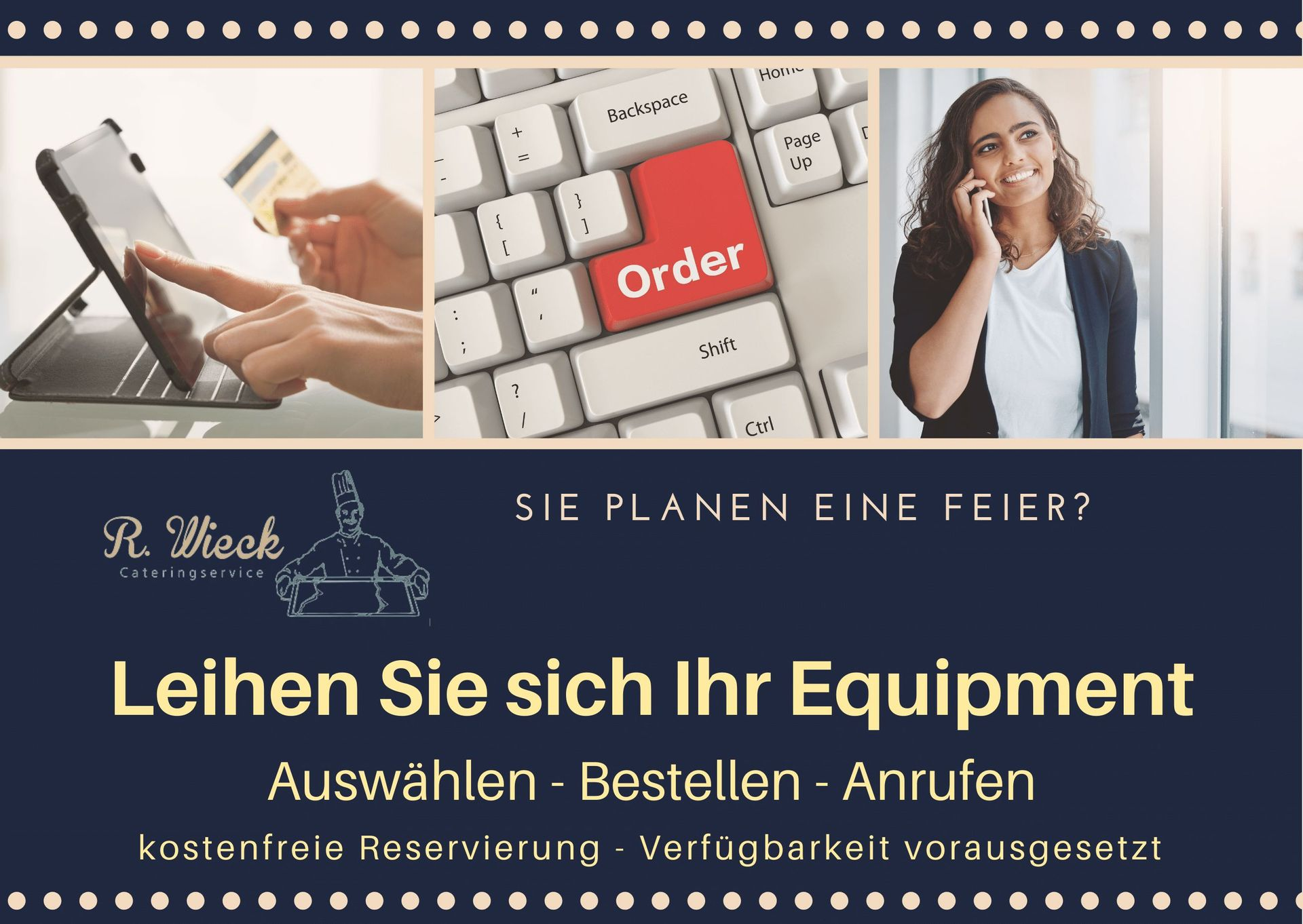 Verleihservice Wieck - Catering-Equipment für